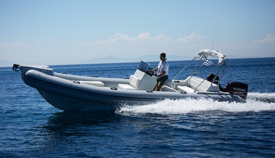 Cruising Around Anavissos, Greece On This Skipper 780s Rib Built For 10 People