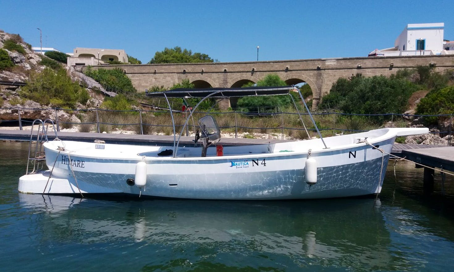 Journey out and explore Leuca's caves by boat