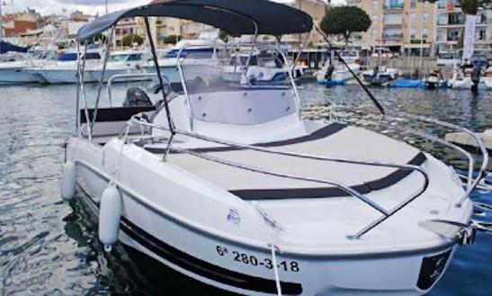 Rent 21' Flyer Space & Sun Pelaia & Galera Boat In Sant Feliu De Guíxols, Spain