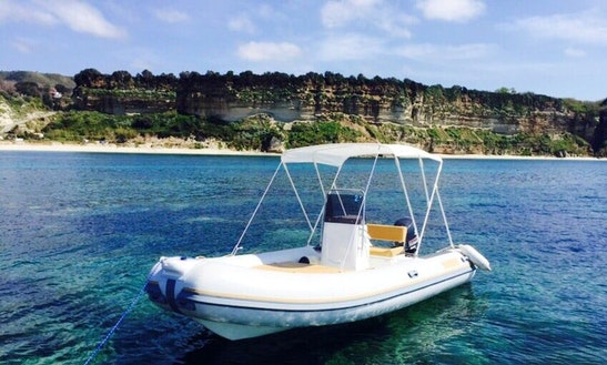 Charter 17' Nautica Diving Rigid Inflatable Boat In Tropea, Italy