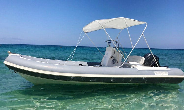 Charter 21' Nautica Rigid Inflatable Boat in Tropea, Italy