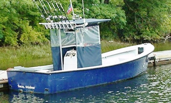 Fishing Trip On 22' Center Console In Saco, Maine