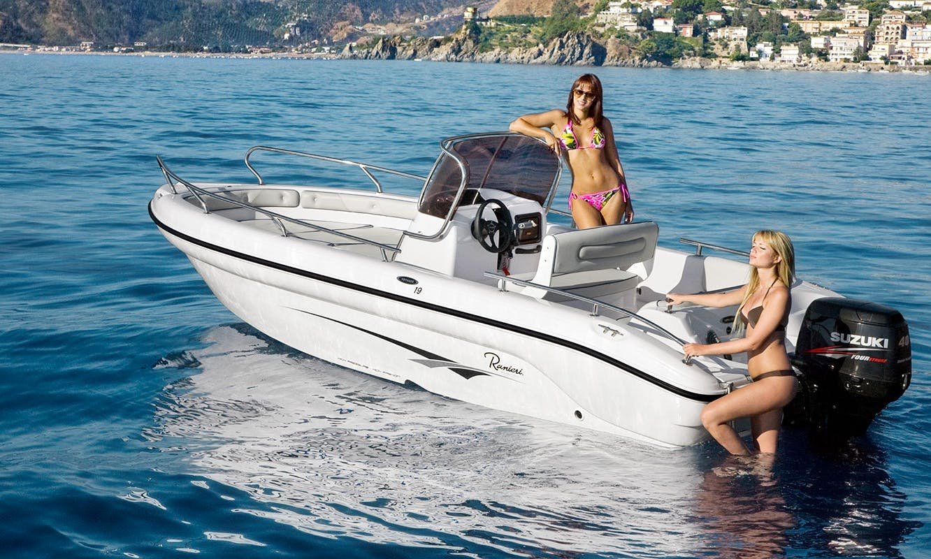 Charter 18' Ranieri 19 - 40H Center Console in Salerno, Italy
