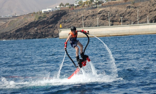 Enjoy Flyboarding In Tías, Spain