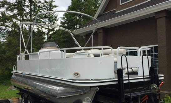 Pontoon In Lake Country