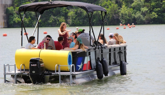 Pontoon Party Boat With Captain In Lake Austin