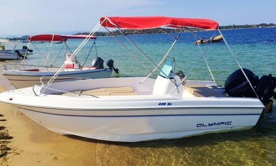 Rent Olympic 490 Center Console In Chalkidiki, Greece