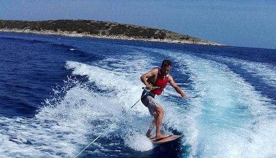 Enjoy Wakeboarding In Milna Bay,island Vis Croatia