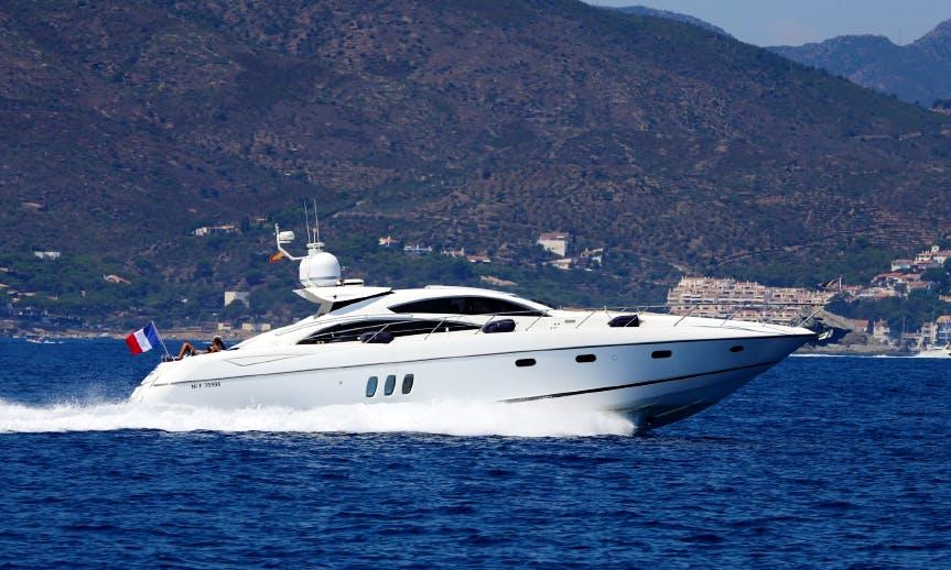 Charter 72' Sunseeker Predator Power Mega Yacht in Portals Nous, Spain