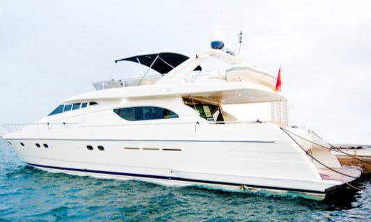 Charter 70' Ferretti Power Mega Yacht in Portals Nous, Spain
