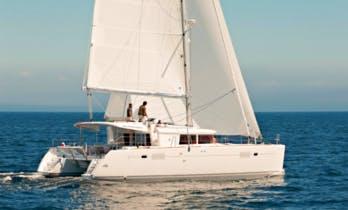Charter 45' Lagoon Cruising Catamaran in Lefkada, Greece