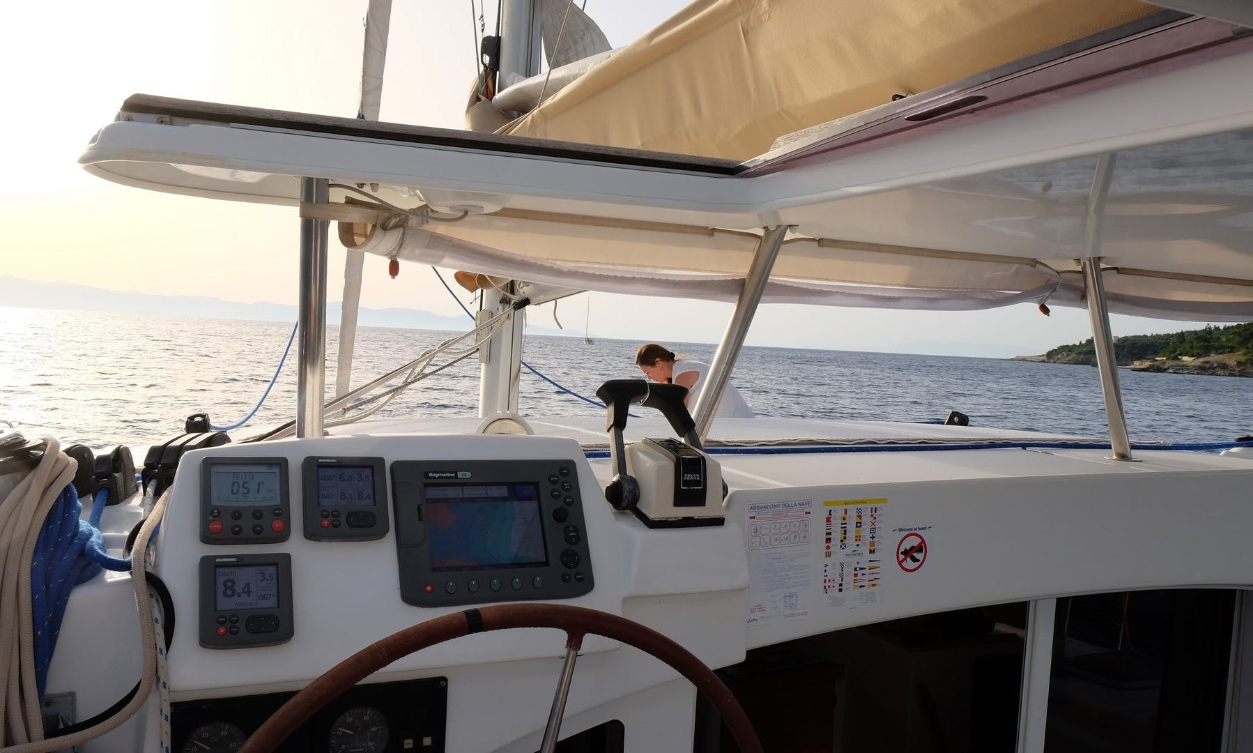 Charter 38' Matilda Lagoon Cruising Catamaran in Kontokali, Greece