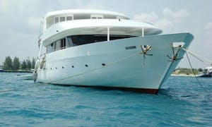 Enjoy Fishing in Felidhoo, Maldives on 98' Power Mega Yacht
