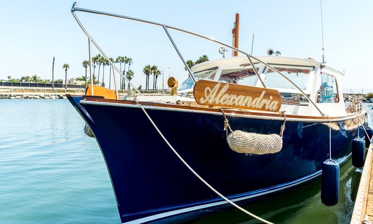 Vintage Wood Boat in Huntington Beach, California