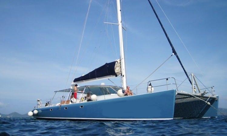 Sailing Catamaran Rising Son II in Hamilton Parish