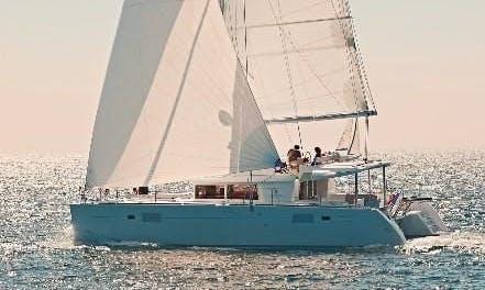 Charter 46' Violetta Lagoon Cruising Catamaran in Kontokali, Greece