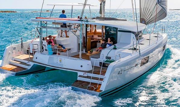 Charter 42' Lagoon Cruising Catamaran in Vathis, Greece