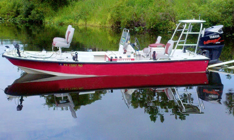 Bass Boat fishing charter in DeLand, Florida