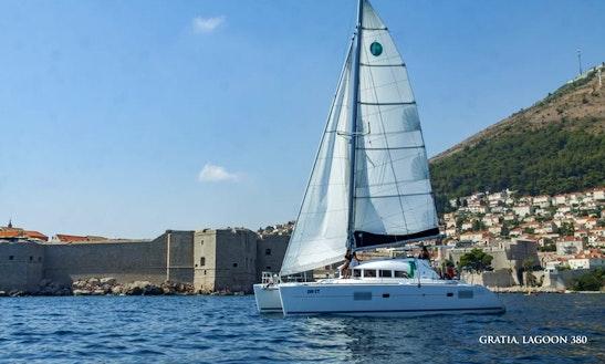 Charter 38' Lagoon Gratia Cruising Catamaran In Komolac, Croatia