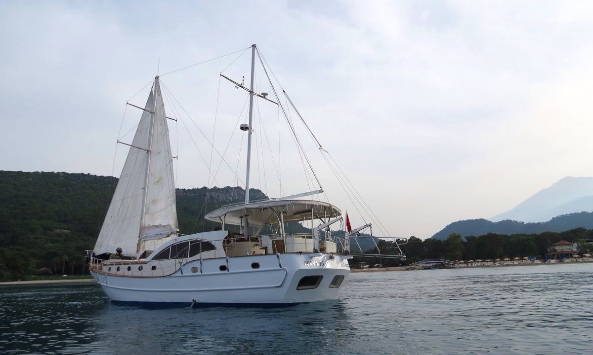 Sail around Antalya and take in the views on this classic Gulet