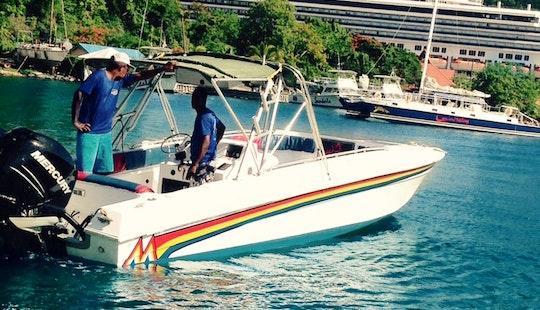 Jalousiesugar Beach By Speedboat, St. Lucia