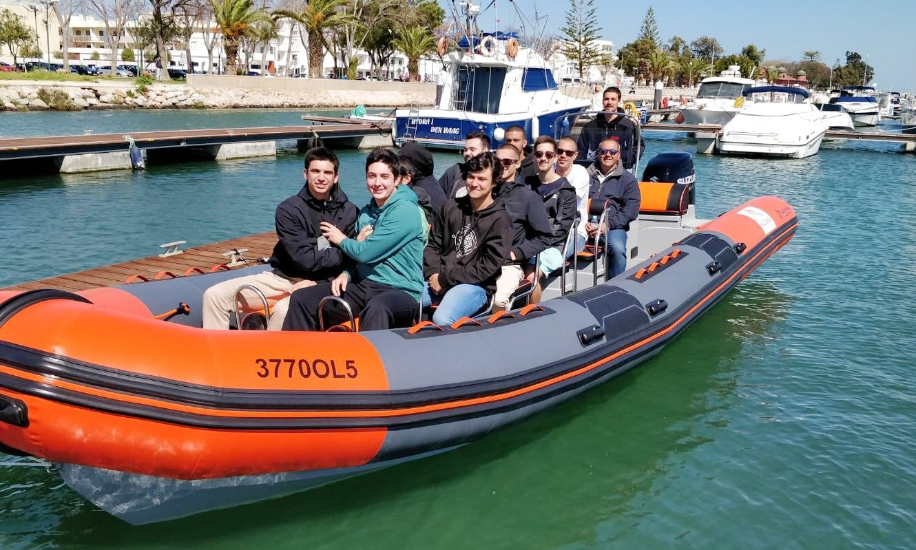 Hop On Hop Off Tour in Ria Formosa onboard 35' Narwahl Rigid Inflatable boat