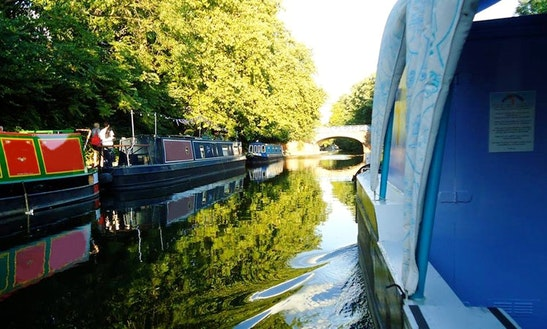 Blue Canal Boat Trips In New River, London United Kingdom