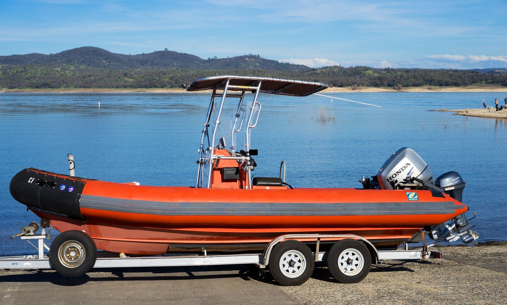 Zodiac Hurricane Center Console RHIB in the San Francisco Bay Area