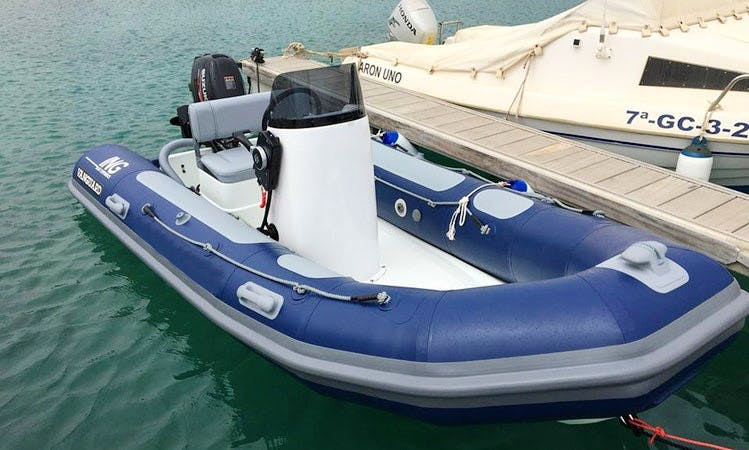 Rent a Rigid Inflatable Boat in Caleta de Sebo, Spain