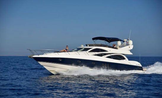 Charter A 12 Person 64' Sunseeker Manhattan Power Mega Yacht In Il-gżira, Malta