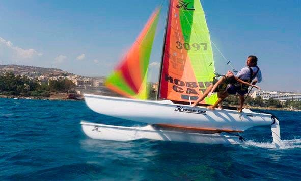 Colorful Hobie Cat For Rent in Limassol, Cyprus