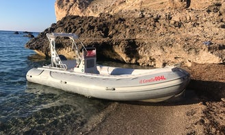 Rent 19' Rigid Inflatable Boat With Outboard Engine in Marettimo