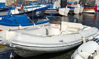 """Rent 20' RIB """"Corallo"""" in Marettimo, Italy"""