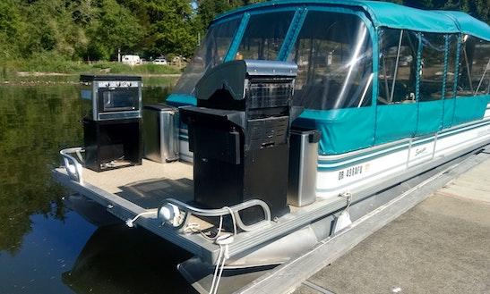 Pontoon Boat On Siltcoos Lake