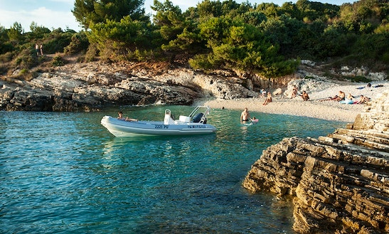 Semi Rigid Inflatable Boat For Hire In Banjole, Croatia
