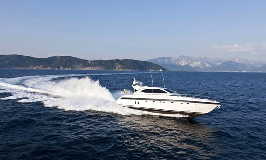 72' Mangusta - M/y Gaia Sofia Power Mega Yacht Boat Charter In Eivissa, Spain