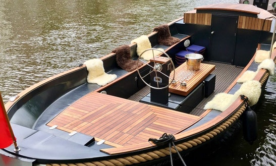 Hire 30' Luxurious Private Canal Boat Naut In Amsterdam, Noord-holland