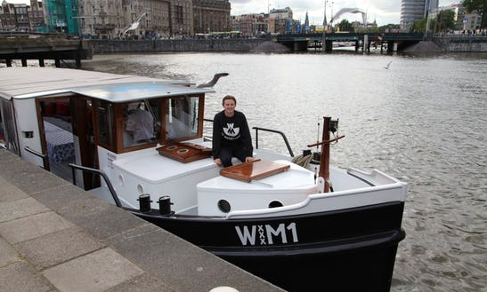 60 Person Private Canal Boat Wm1 For Hire In Amsterdam, Noord-holland