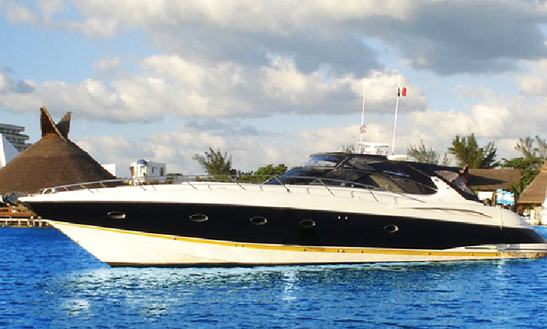 Explore The Waters Of Cancún, Mexico On This 8 Person 58' Sunseeker Power Mega Yacht For Charter
