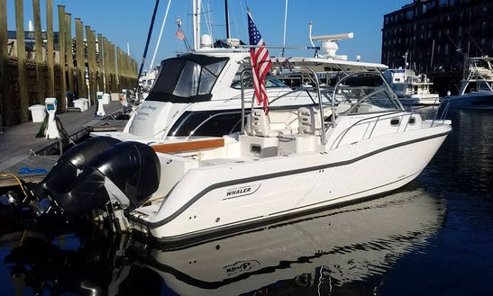 2005 Boston Whaler Conquest 305 Located In Boston Harbor