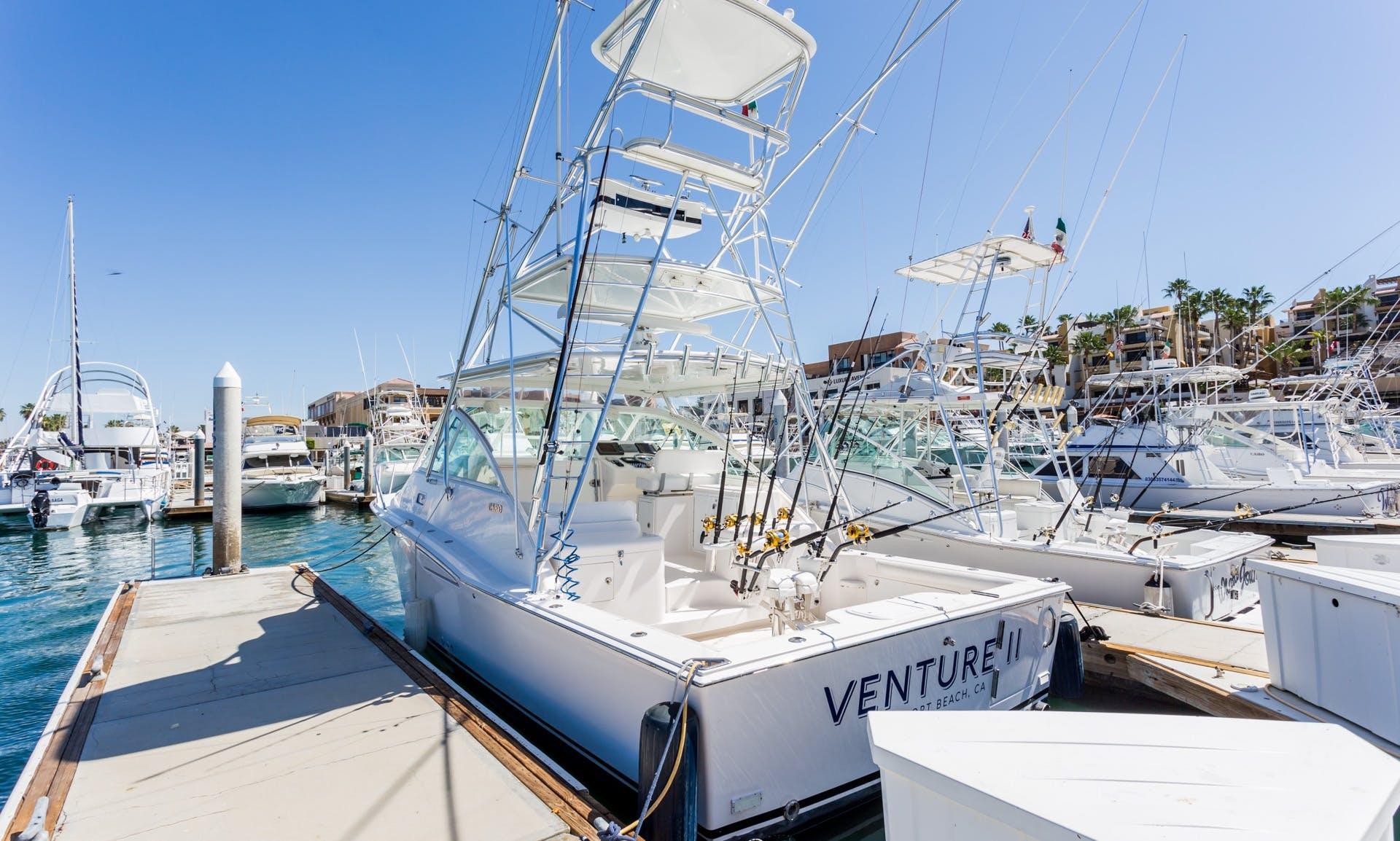 Fishing charter avaialble in Baja California Sur, Mexico aboard 35' Cabo Expreso Sport Fisherman