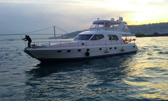 Elegant Majesty Motor Yacht Available For Charter In İstanbul, Turkey