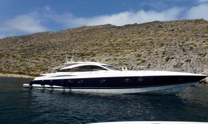 61' Sunseeker Predator Power Mega Yacht Perfect Boat For Exploring The Bays of Mallorca, Spain