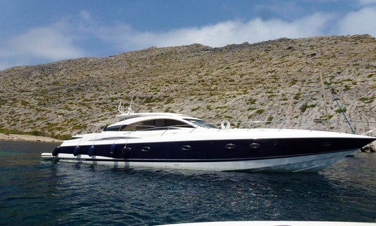 61' Sunseeker Predator Power Mega Yacht Perfect Boat For Exploring The Bays Of Mallorca, Spain