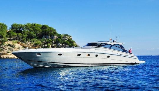 63' Baia Azzurra Power Mega Yacht Charter In Portals Nous, Balears