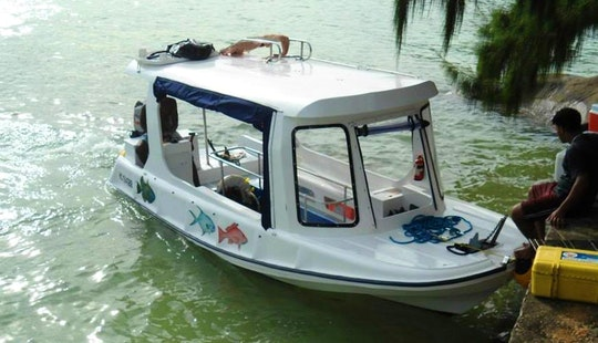 Charter Island Hopper Glass Bottom Boat In Victoria, Seychelles
