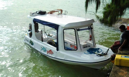 Charter Island Hopper Glass Bottom Boat In Victoria, Seychelles