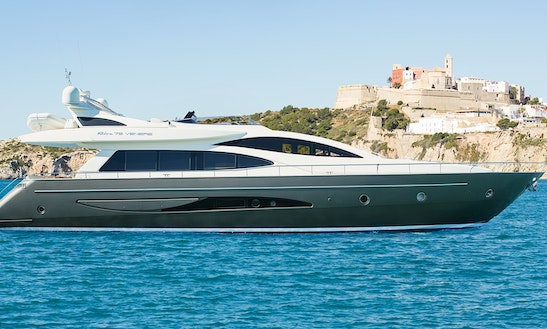 Exclusive 75' Riva Venere Power Mega Yacht In Eivissa, Spain For Charter