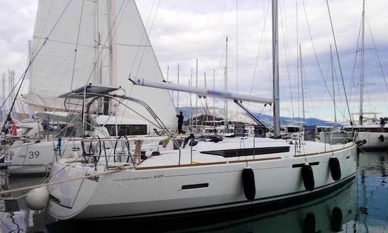 Charter 43' Ariadne Sun Odyssey Cruising Monohull In Kontokali, Greece