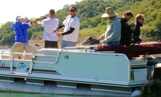 Guided Fishing Trip On Pontoon Boat On Lake Casitas In Ojai, Southern California